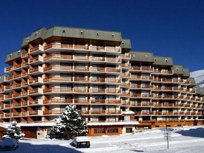Photo for 100m from resort center, 4th floor, balcony, parking, tv, 33m², Les 2 Alpes