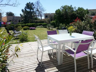 Photo for Nice comfortable villa, 2 terraces, large garden, 100m beach, Costa Verde