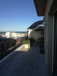 Photo for Penthouse apartment with sea view