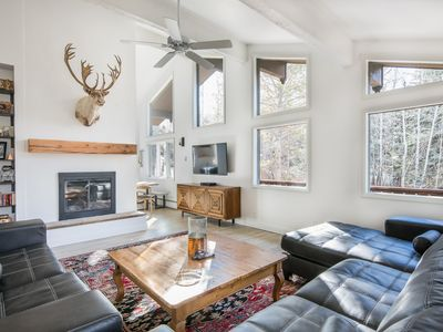 Photo for Sunlit Modern Bavarian Ski Chalet, Private Backyard and access to POOL!!!