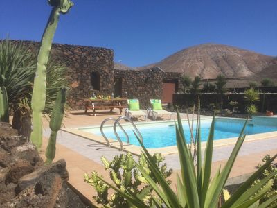 Photo for Volcanic Rock constructed Villa with Private Pool (6.7m x 4.6m)/WiFi - Sea View