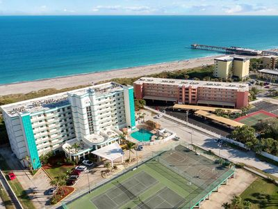 Photo for Ocean Front Resort - 2BR Condo -Near the Pier - Tiki Bar - Pool - Game Room