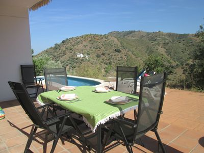 Photo for Private rural family villa with pool, fenced,  3 bedrooms, 2 bathrooms,BBQ.views
