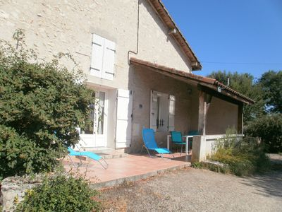 Photo for Stone house with park, view on the vineyard of buzet.