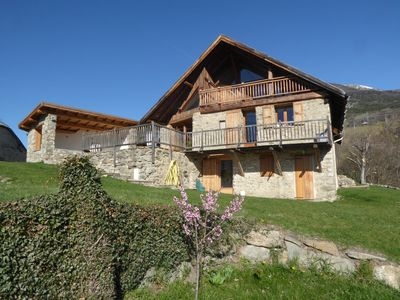 Photo for Chalet / house mountain Southern Alps (greenhouse ponçon) ideal for families