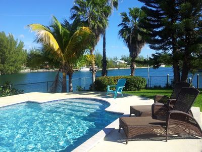 Photo for Beautiful waterfront home with pool, private boat and Jet Ski option.