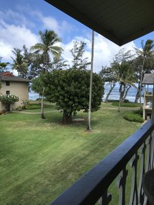Photo for Kauai ocean view condo unit in centralized location steps from water !!