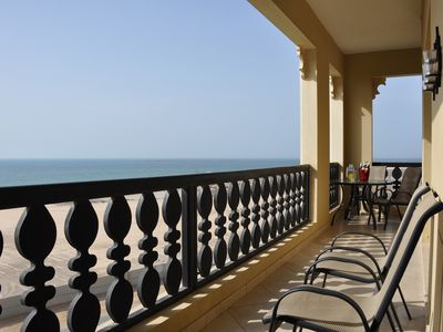 Photo for Stunning Sea Facing 2 Bed + 2 Bath 4th Floor Apartment, Al Hamra Village Marina