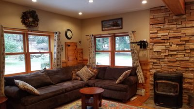 1st Floor Living Room with Pellet Stove