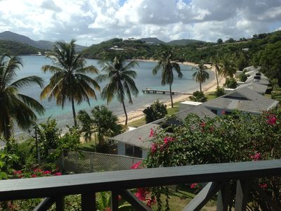 Photo for 2 beds, A/C, Amazing Views, Sandy Galleon Beach, English Harbour, WIFI, TV