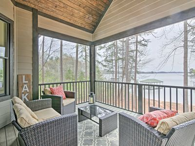 Photo for Seneca Home w/Porch & Private Dock on Lake Keowee!