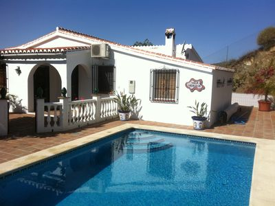 Photo for quiet villa in mountains with heated pool, close to village and  beach (30 min)