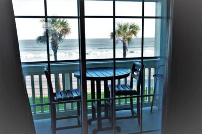 Beach and ocean front condo with great
