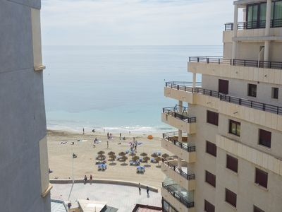 Photo for Apartment with frontal sea views in front of the beach of Calpe