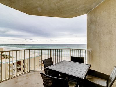 Photo for Beachfront corner condo w/incredible Gulf views, shared pools, hot tub, and gym