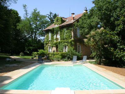 Photo for 1900 property private pool in 5000 m² closed garden 30 kms Avignon or Uzès