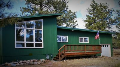 Photo for Light-Filled Cabin, Steps Away from Rocky Mtn Natl Park Entrance  *Year Round*