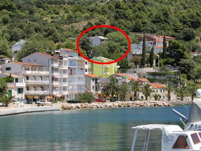 Photo for Two bedroom apartment with balcony and sea view Živogošće - Porat (Makarska)