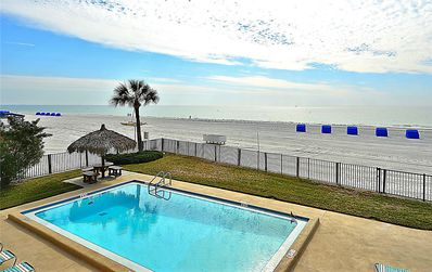 Photo for Emerald Isle #103-Directly beach front/Remodeled/Tasteful decor/Huge balcony!