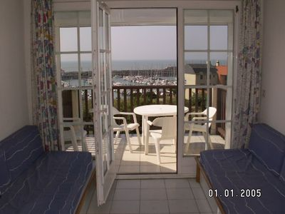 Photo for BEAUTIFUL APARTMENT WITH SEA AND SOUTH PORT, TERRACE NEAR THE BEACH