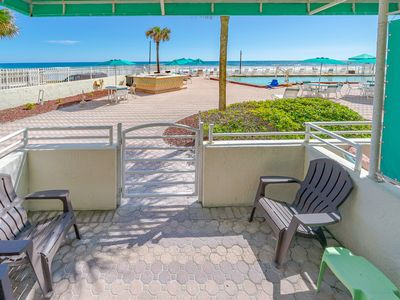 Photo for Direct oceanfront and poolside cabana condo !