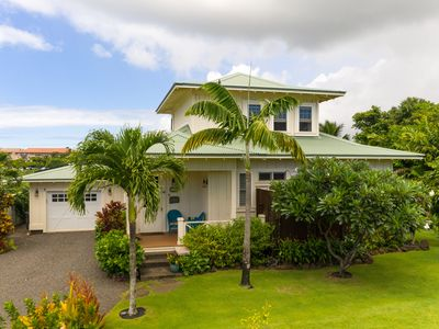 Photo for Beautiful New Plantation Style Cottage, Steps Away From Poipu Beach