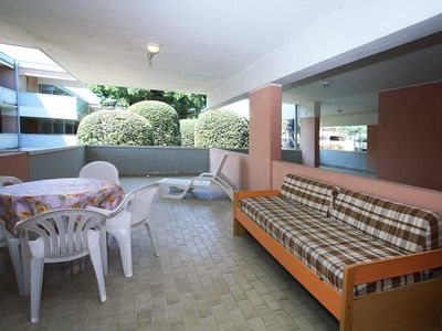 Photo for Res. Solarium spacious apartment with one sleeping room with a big terrace and swimming pool