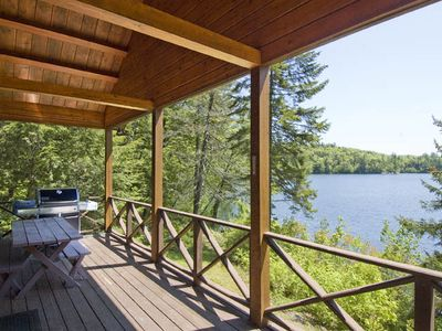 Photo for Beautiful Waterfront Log Home, Nestled in the White Mountains