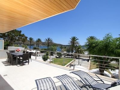 Photo for Holiday Apartment Olympo with Sea View, Mountain View, Wi-Fi & Terraces; Street Parking Available