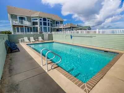 Photo for Duck 'N Out Sleep 'N Inn | Oceanfront | Private Pool, Hot Tub