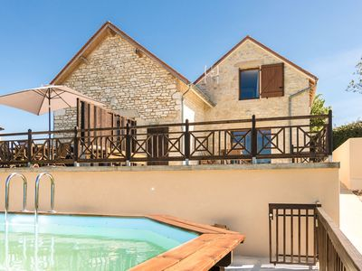 Photo for Two semi-detached houses with stunning views, a private Jacuzzi and a swimming pool