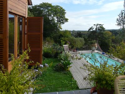 Photo for Detached house facing south with pool and panoramic views of the Cher