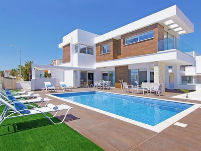 Photo for This 3-bedroom villa for up to 6 guests is located in Ayia Napa and has a private swimming pool and