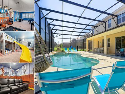 Photo for Solterra Paradise Villa | Extended Pool Deck, Movie Room, Amazing Kids Bedrooms & Gym
