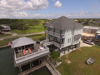 Photo for Waterfront Luxury House, Boathouse w/ Lift, Fishing Pier, Views