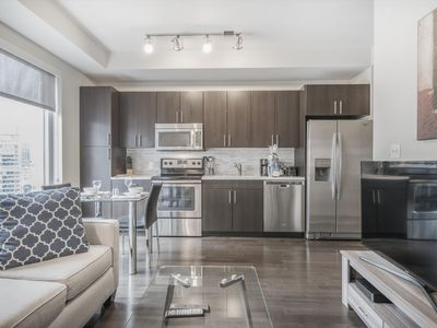Photo for Bright 1BR Condo | Full Kitchen & Laundry | Downtown Boston!