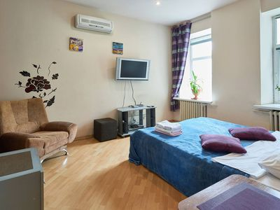 Photo for Cozy apartment on Leontovycha Str
