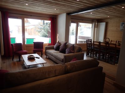 Photo for Alpe d'Huez center prox ski slopes, apartment 125m2, 4 bedrooms, in chalet