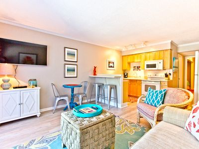 Photo for Professionally Decorated with King Bed and In-Unit Washer/Dryer, Steps to Beach and Pool!