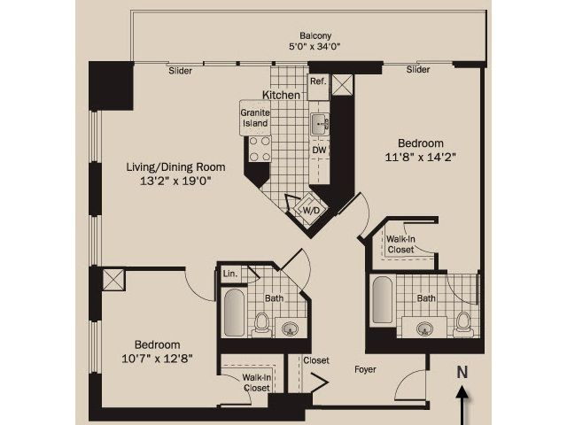 Property Image#16 Magnificent Mile Corner 2 Bedroom Suite On 43rd Floor  With Balcony