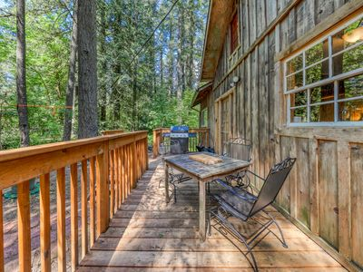 Photo for Vintage mountain cabin in the woods close to skiing, hiking, & more!