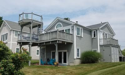 Photo for You won't believe this deck! Narragansett beach house with ocean view