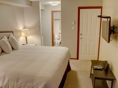 Photo for Glacier's Reach Studio, sleeps 2, quiet setting,  just steps from the action!