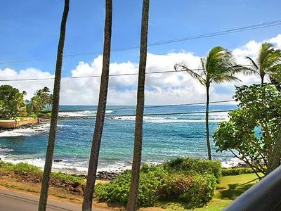 Photo for Prince Kuhio 302 Nice Ocean Views Steps Away from Snorkeling & Oceanfront Dining