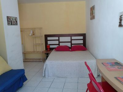 Photo for Large studio 4 pers heart of the Minervois vineyard in the village center in a quiet