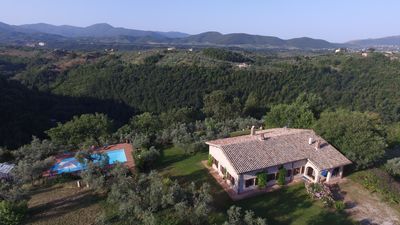 Photo for Relaxing Villa near Rome with pool and spectacular views over Sabina countryside