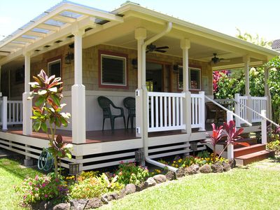 Photo for Quaint Cottage (TVNC#5100) in Heart of Hanalei, 4 min to Bay, $315/ni, 2 people