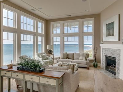 Photo for Luxury Beach House Overlooking South Beach w/Lakefront Hot Tub, Fire Pit & Outdoor Kitchen