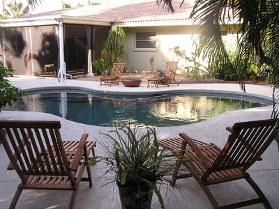 Photo for Sarasota Bay sunsets, Secluded pool Oasis, Near St. Armand's Circle and Beaches