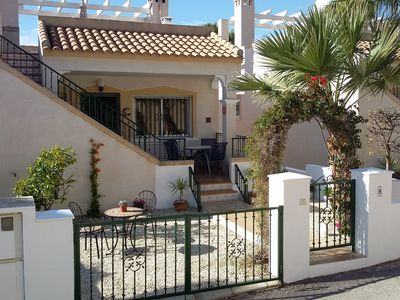 """Photo for Wonderfully sunny  2 bed villa, free wi-fi, 40"""" HD TV, Fully air conditioned"""